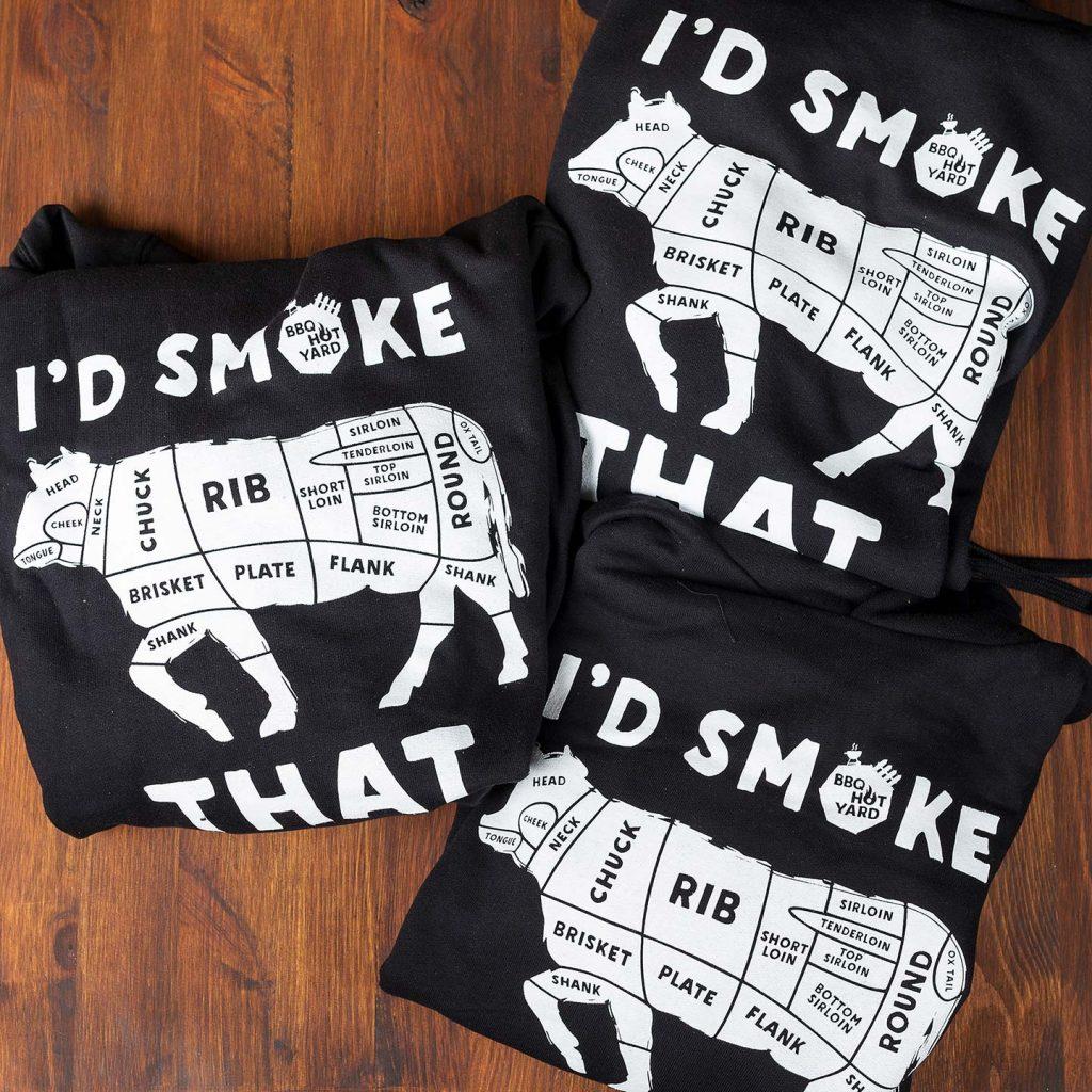 I'd smoke that! - BBQ hoodie majica za BBQ majstore 1