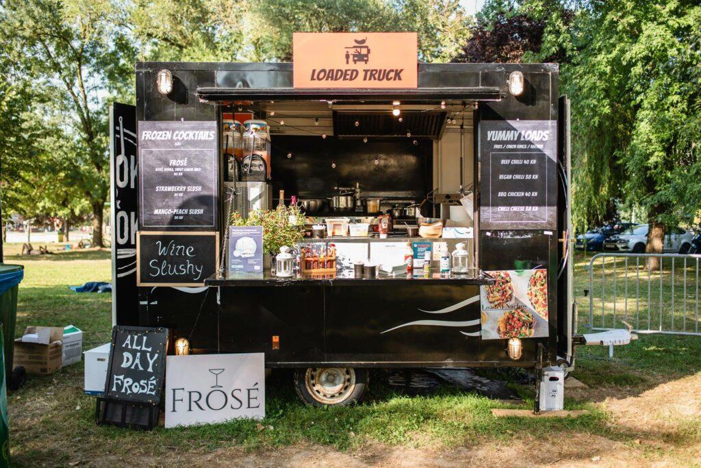 Loaded food truck